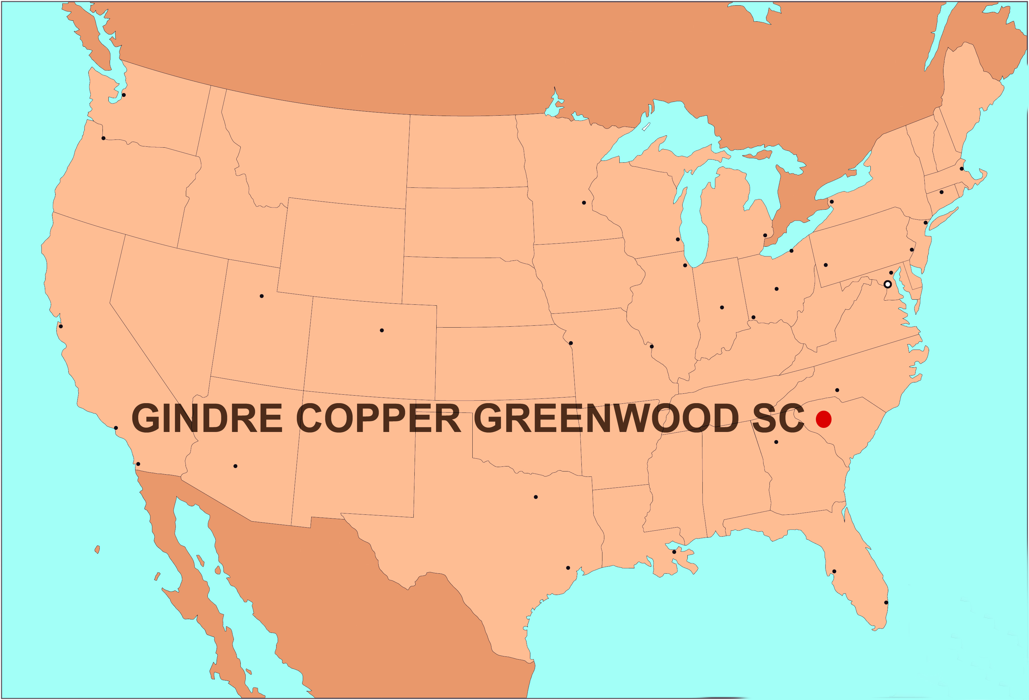 Gindre copper in USA
